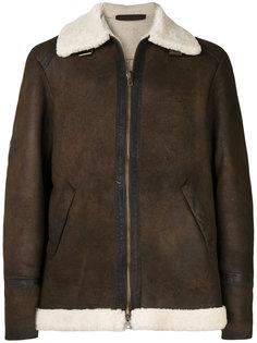 куртка с отделкой из овечьего меха Salvatore Santoro