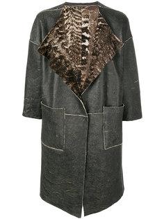 двустороннее пальто с меховой подкладкой Giorgio Brato