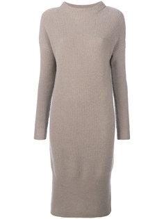 платье макси в рубчик  N.Peal