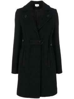пальто с заостренными лацканами и поясом  Carven