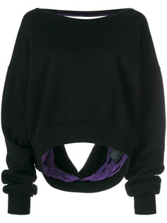 свитер с открытой спиной Unravel Project