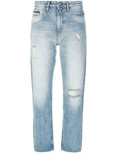 состаренные укороченные джинсы  Ck Jeans