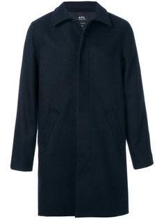 пальто с потайной застежкой на пуговицы A.P.C.
