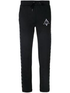 спортивные брюки с вышивкой  Marcelo Burlon County Of Milan