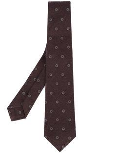 галстук с цветочным принтом Kiton