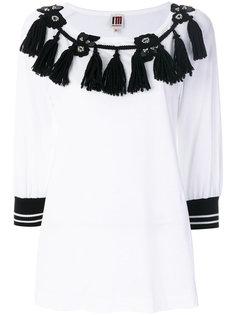 блузка с вышивкой и кисточками  IM Isola Marras