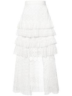 layered pleated skirt Zimmermann