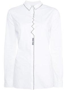 zigzag print shirt Vionnet