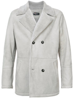 двубортное пальто из овчины Kiton