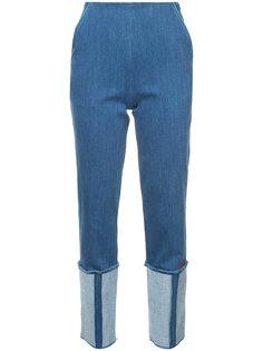джинсы с подворотами Vionnet