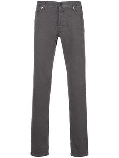 джинсы кроя скинни Kiton
