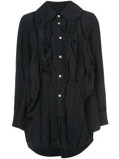 удлиненная рубашка с присборенной отделкой Comme Des Garçons
