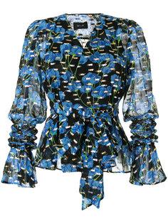 блузка с запахом и цветочным принтом G.V.G.V.