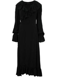 платье с запахом и отделкой оборками G.V.G.V.