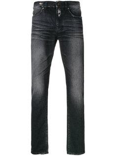 узкие джинсы с эффектом потертости Saint Laurent