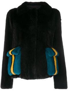 куртка с контрастными карманами  Blancha