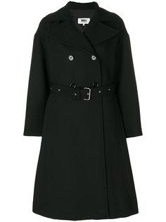 свободное двубортное пальто  Mm6 Maison Margiela