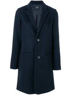 приталенное пальто на пуговицах  A.P.C.