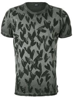 футболка с принтом сердец Diesel