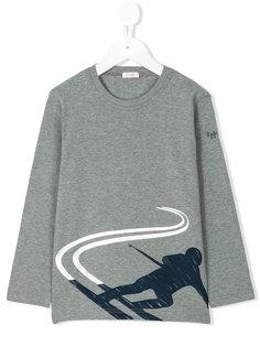 футболка с длинными рукавами с принтом лыжника Il Gufo