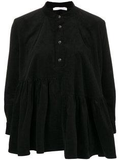 вельветовая блузка со сборкой  Peter Jensen