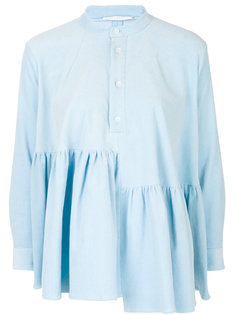 вельветовая блузка с оборкой  Peter Jensen