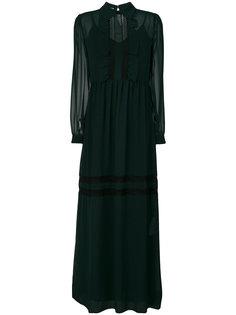 платье макси с оборками P.A.R.O.S.H.