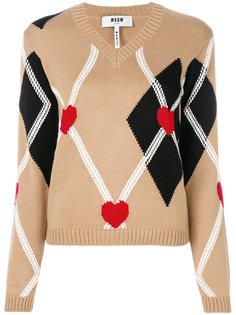 свитер с вышивкой MSGM