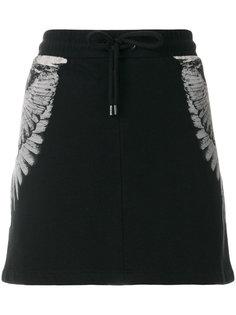 юбка с вышивкой  Marcelo Burlon County Of Milan
