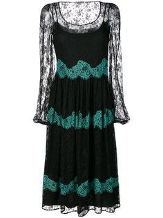 полупрозрачное платье с оборкой  Blugirl