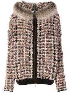фактурная куртка с капюшоном  Blugirl