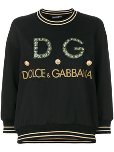 толстовка с блестящим логотипом Dolce & Gabbana