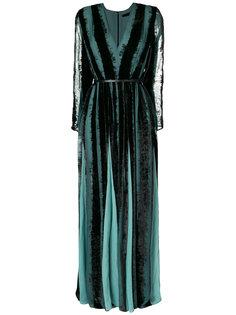 вечернее платье с V-образным вырезом Elie Saab