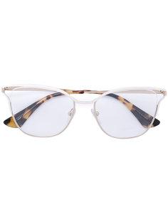 """очки с оправой """"кошачий глаз""""  Prada Eyewear"""