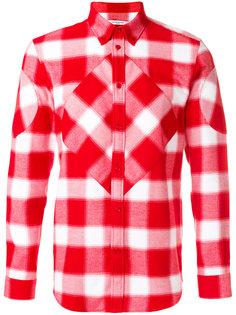 клетчатая рубашка со вставками Givenchy
