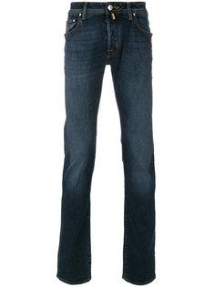джинсы с заплаткой с логотипом Jacob Cohen