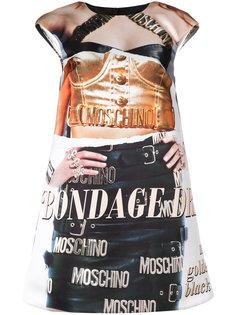 платье с принтом trompe-lœil Moschino
