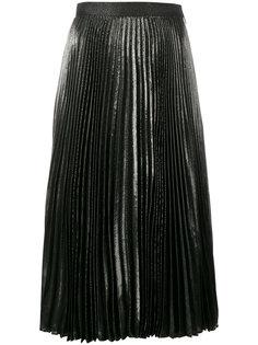 плиссированная юбка с металлическим отблеском Christopher Kane