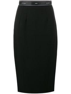юбка-карандаш с логотипом  Dolce & Gabbana