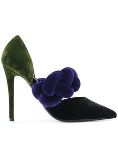контрастные туфли-лодочки Marco De Vincenzo