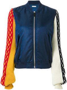 куртка-бомбер с трикотажными рукавами  JW Anderson