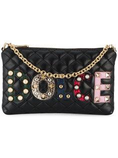 стеганый кошелек с аппликацией логотипа Dolce & Gabbana