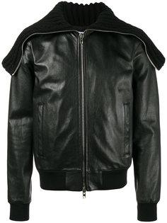 кожаная куртка с массивным воротником Givenchy