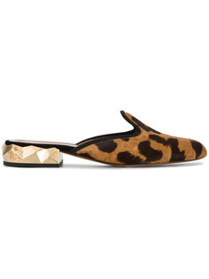 лоферы с леопардовым принтом Darmaki