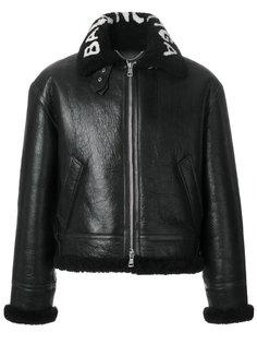 куртка-бомбер из овчины Balenciaga