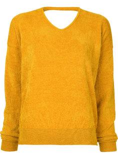 свитер из шенилла с вырезом  En Route