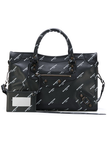 классическая мини-сумка-тоут с логотипом 'City' Balenciaga