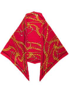 шарф с золотистыми цепочками Balenciaga
