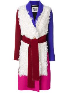 пальто дизайна колор-блок Fausto Puglisi