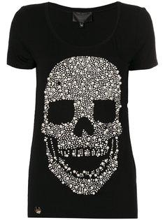 футболка с черепом из жемчужных бусин Philipp Plein